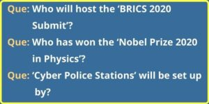 Questions for Current Affairs Quiz October 2020