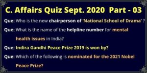04 Questions From September CA Quiz Part 03