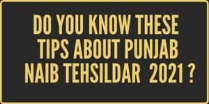 A featured Image about Punjab Naib Tehsildar 2021